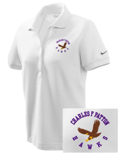 Charles F Patton Middle School Hawks Embroidered Nike Women's Pique Golf Polo