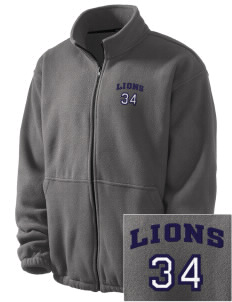 Hoover Elementary School Lions Embroidered Men's Fleece Jacket