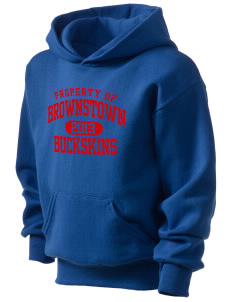 Brownstown Elementary School Buckskins Kid's Hooded Sweatshirt
