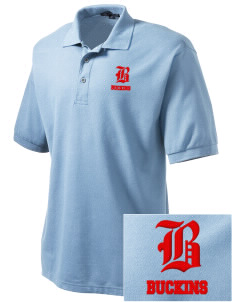 J E Fritz Elementary School Buckins Embroidered Men's Silk Touch Polo