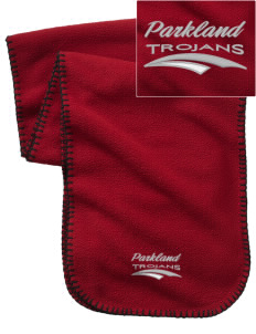 Parkland High School Trojans Embroidered Fleece Scarf