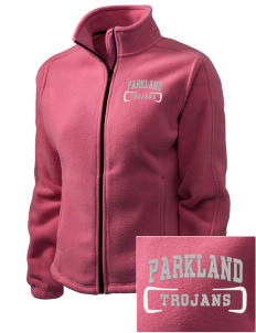 Parkland High School Trojans Embroidered Women's Fleece Full-Zip Jacket