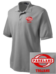 Parkland High School Trojans Embroidered Men's Silk Touch Polo