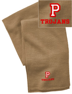 Parkland High School Trojans  Embroidered Knitted Scarf