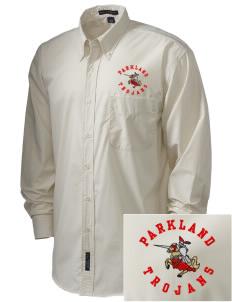 Parkland High School Trojans  Embroidered Men's Easy Care, Soil Resistant Shirt