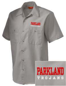 Parkland High School Trojans Embroidered Men's Cornerstone Industrial Short Sleeve Work Shirt