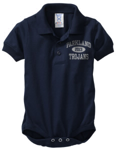 Parkland High School Trojans  Baby Platinum Sport Shirt Creeper