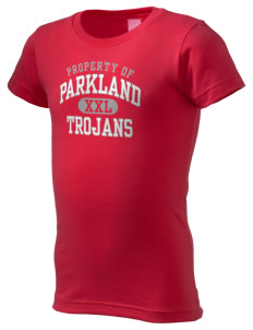 Parkland High School Trojans  Girl's Fine Jersey Longer Length T-Shirt