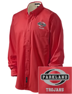 Parkland High School Trojans Embroidered Men's Easy-Care Shirt