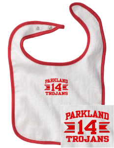 Parkland High School Trojans Embroidered Baby Snap Terry Bib