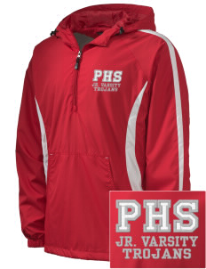 Parkland High School Trojans Embroidered Men's Colorblock Raglan Anorak