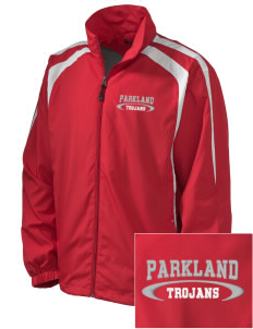 Parkland High School Trojans Embroidered Men's Colorblock Raglan Jacket