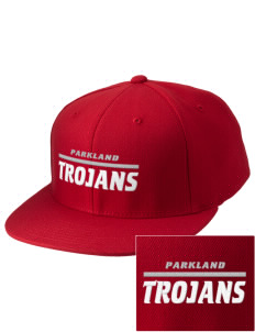 Parkland High School Trojans Embroidered Diamond Series Fitted Cap