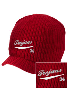 Parkland High School Trojans Embroidered Knit Beanie with Visor