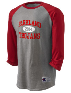 Parkland High School Trojans Champion Men's Tagless Baseball T-Shirt