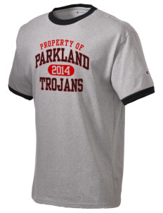 Parkland High School Trojans Champion Men's Ringer T-Shirt