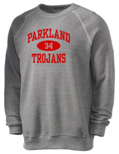 Parkland High School Trojans Alternative Men's Eco-Fleece Raglan Sweatshirt