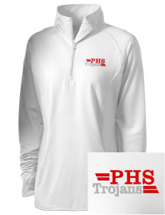 Parkland High School Trojans Embroidered Women's Stretched Half-Zip Pullover