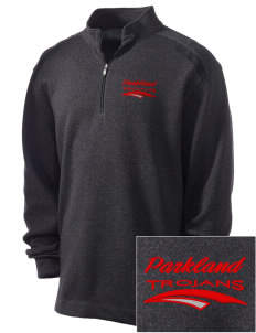 Parkland High School Trojans Embroidered Nike Men's Golf Heather Cover Up