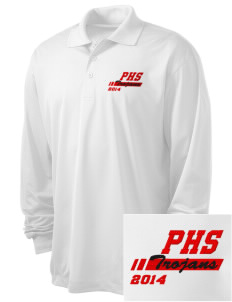 Parkland High School Trojans Embroidered Men's Long Sleeve Micropique Sport-Wick Sport Shirt