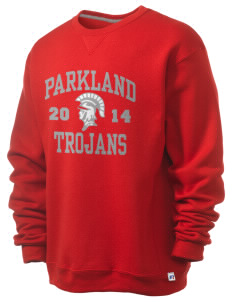Parkland High School Trojans  Russell Men's Dri-Power Crewneck Sweatshirt