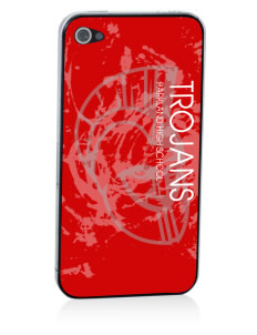 Parkland High School Trojans Apple iPhone 4/4S Skin
