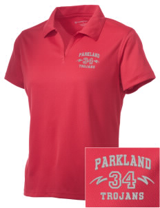 Parkland High School Trojans Embroidered Women's Double Mesh Polo