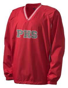 Parkland High School Trojans Men's Tipped V-Neck Raglan Wind Shirt with Tackle Twill