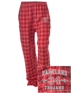 Parkland High School Trojans Embroidered Unisex Button-Fly Collegiate Flannel Pant