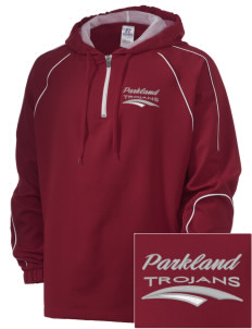 Parkland High School Trojans Embroidered Russell Men's Team Prestige 1/4 Zip Jacket