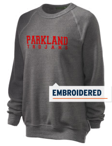 Parkland High School Trojans Embroidered Unisex Alternative Eco-Fleece Raglan Sweatshirt