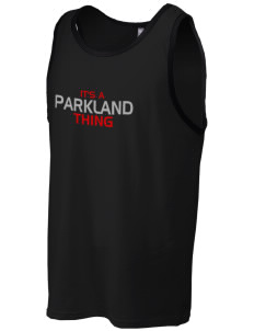Parkland High School Trojans Men's Cotton Ringer Tank
