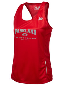 Parkland High School Trojans Women's New Balance Tempo Running Singlet