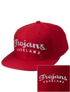 Parkland High School Trojans Embroidered Puffy 3D Diamond Series Fitted Cap