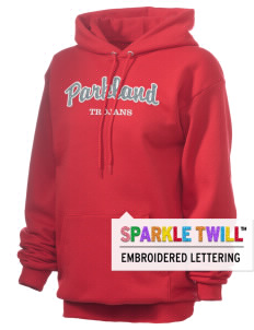 Parkland High School Trojans Embroidered Unisex 7.8 oz Lightweight Hooded Sweatshirt with Sparkle Twill™