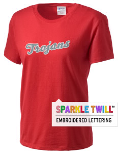 Parkland High School Trojans Women's Essential T-Shirt with Sparkle Twill™