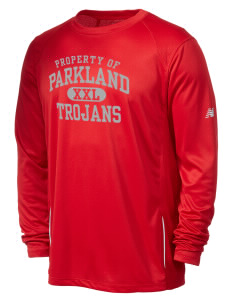 Parkland High School Trojans New Balance Men's Tempo Long-Sleeve Performance T-Shirt