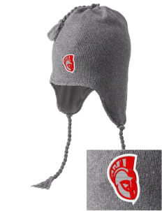 Parkland High School Trojans Embroidered Knit Hat with Earflaps