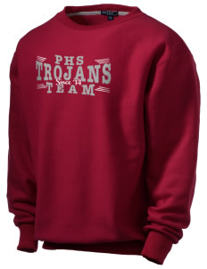 Parkland High School Trojans Men's Heavyweight Crewneck Sweatshirt