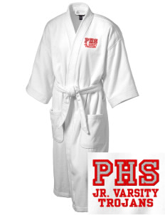 Parkland High School Trojans Embroidered Terry Velour Robe