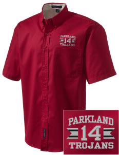 Parkland High School Trojans Embroidered Men's Easy Care Shirt