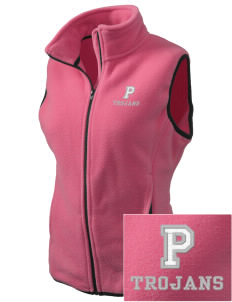 Parkland High School Trojans Embroidered Women's Fleece Vest