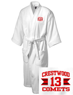 Crestwood Junior High School Comets Embroidered Terry Velour Robe