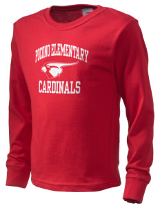 Pocono Elementary Center Cardinals  Kid's Long Sleeve T-Shirt