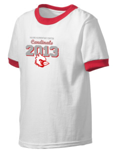 Pocono Elementary Center Cardinals Kid's Ringer T-Shirt