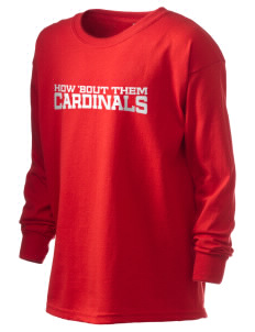 Pocono Elementary Center Cardinals Kid's 6.1 oz Long Sleeve Ultra Cotton T-Shirt