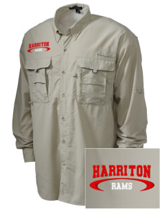 Harriton Senior High School Rams Embroidered Men's Explorer Shirt with Pockets