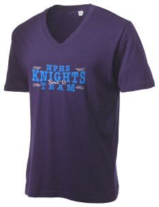 North Penn High School Knights Alternative Men's 3.7 oz Basic V-Neck T-Shirt