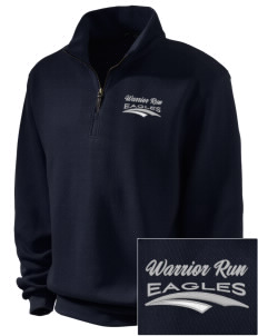 Warrior Run Middle School Eagles Embroidered Men's 1/4-Zip Sweatshirt