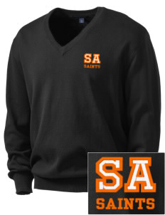 Saint Anthony Catholic School Saints Embroidered Men's V-Neck Sweater